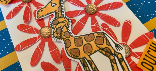 Back on Your Feet Giraffe Get Well Card Close Up image