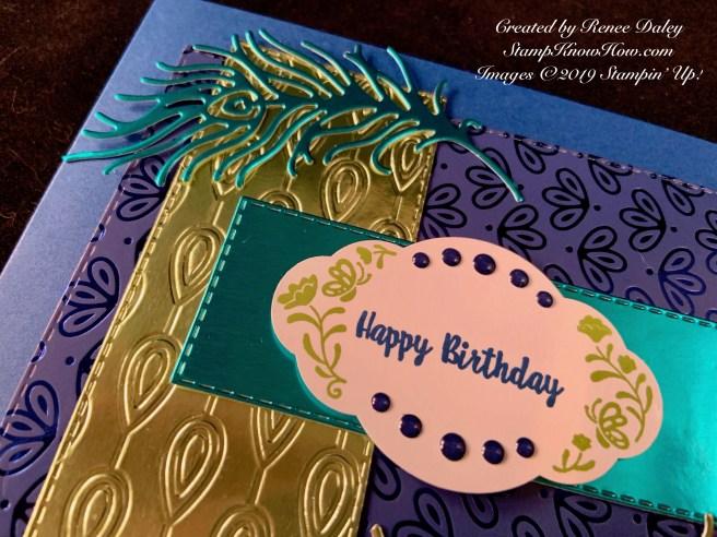 Label Me Pretty Peacock Birthday Card