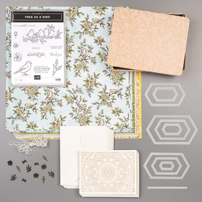 The Bird Ballad Suite Bundle gives you a coordinating selection of products with one simple purchase. It includes the stamp set and tool bundle at 10% off plus one each of the other items listed.