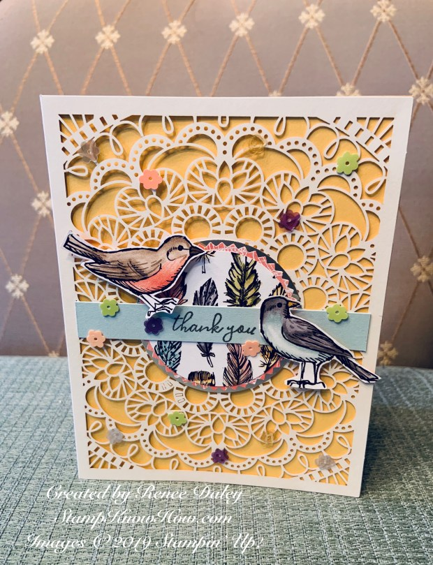 Bird Ballad Suite thank you card