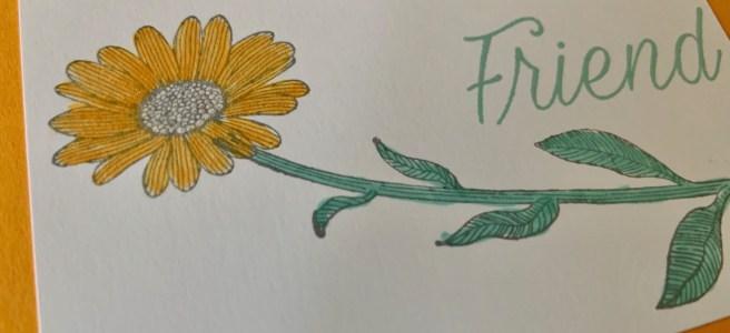 Daisy Lane Friendship Card