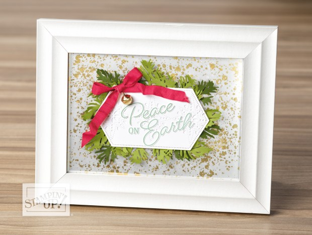 Home decor project featuring mercury glass acetate from Stampin up