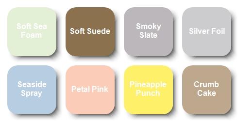Subtle color palette for the Christmas Crowd Card