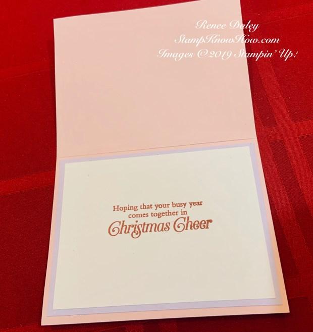 Feels Like Frost Glitter Christmas Card Inside View