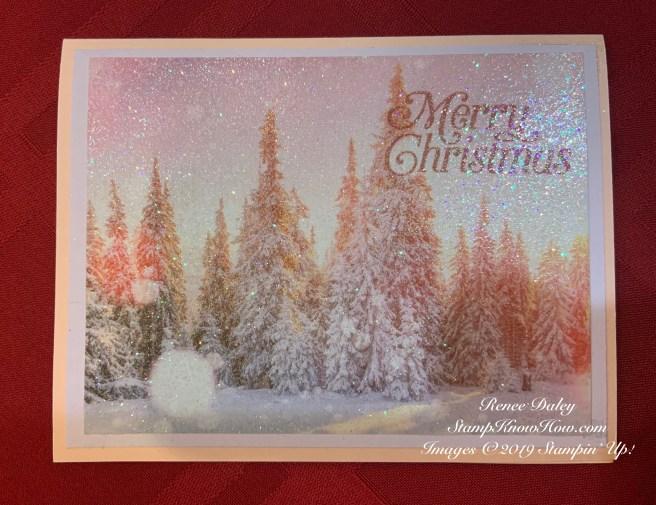Feels Like Frost Glitter Christmas Card