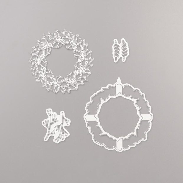 All-around wreath dies from Stampin' Up