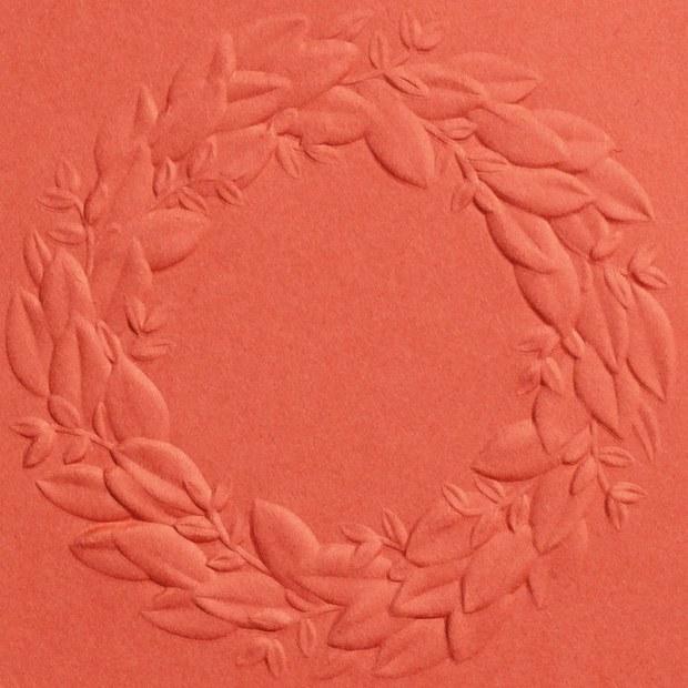 Seasonal Wreath 3D Embossing Folder