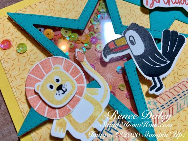 Birthday Bonanza Shaker Card closeup image