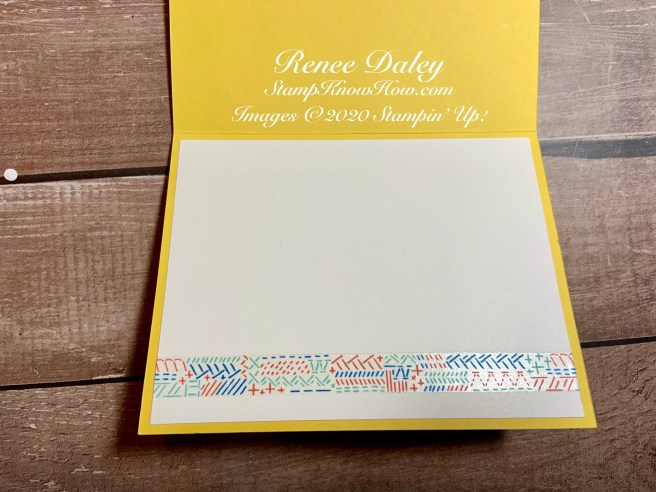 Image of inside view of the Birthday Bonanza Shaker Card