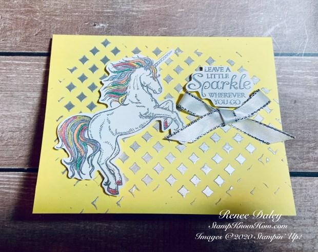 Leave a Little Sparkle Unicorn Card
