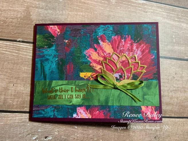 Lily Impressions W-Fold Card