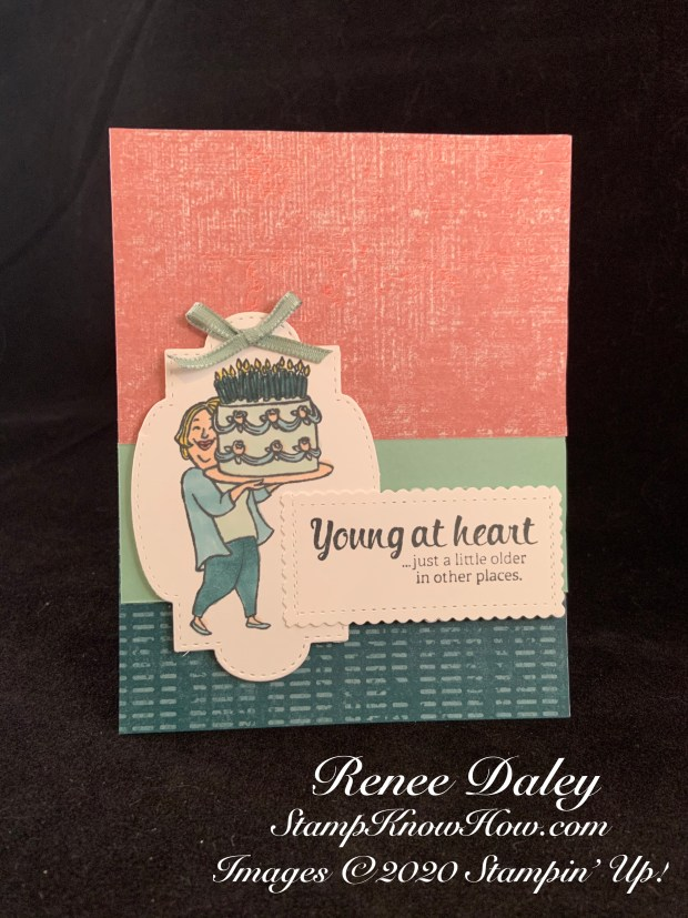 Young at Heart Birthday Card - SUO Challenges #244 COLORING CHALLENGE