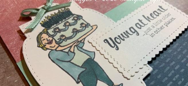 Young at Heart Birthday Card Closeup image