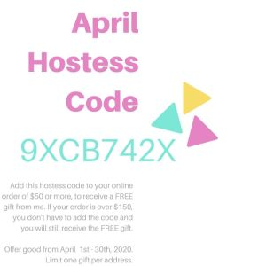 Stampknowhow.com April Hostess Code