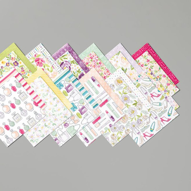 """Best Dressed Designer Series Paper Stack by Stampin' Up in a convenient 6""""x6"""" size"""