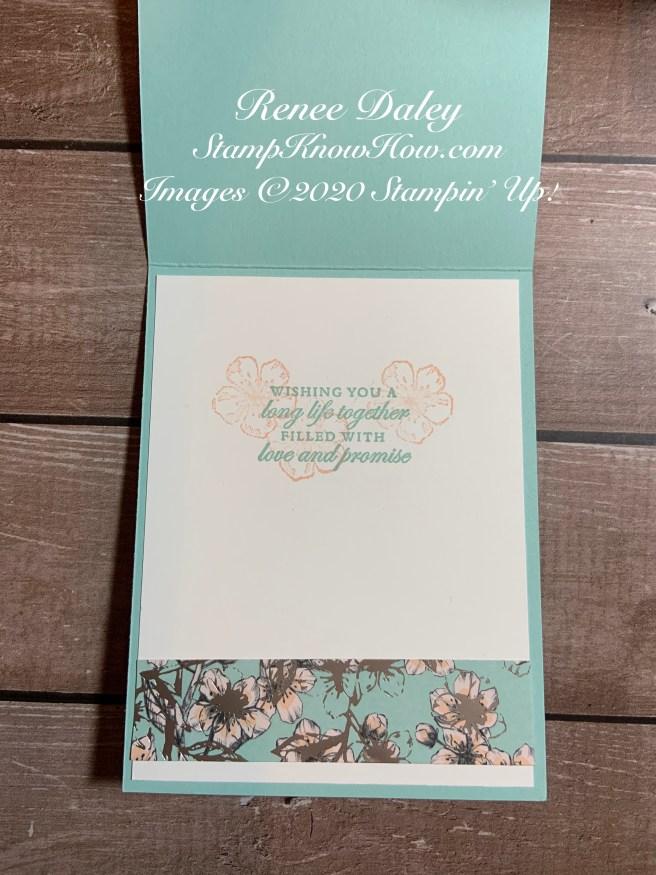 Parisian Blossoms Wedding card inside view image