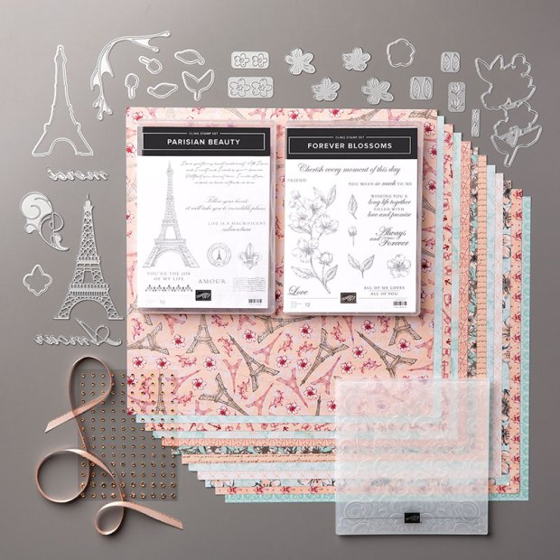 Image of Stampin' Up Parisian Blossoms Suite