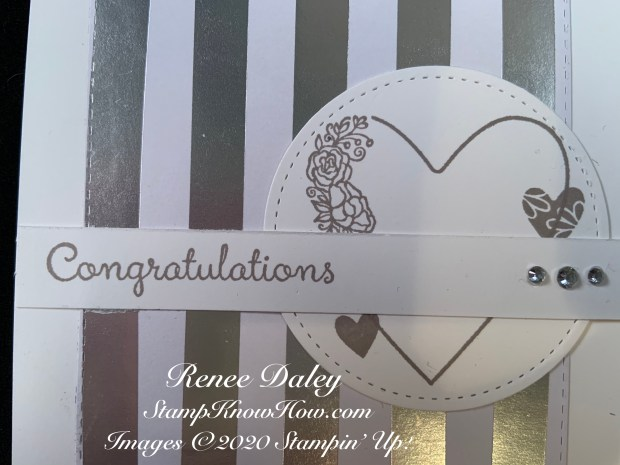 Close up image of the Meant to Be Wedding Card