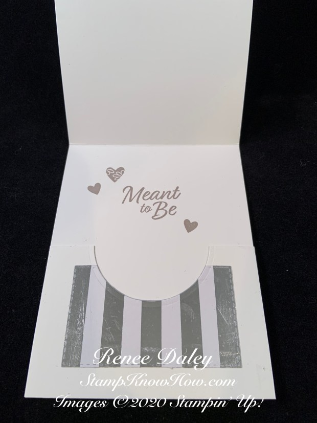 Inside image of the Meant to Be Wedding Card