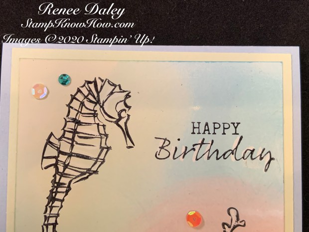 Seaside Notions Birthday Card Close up image