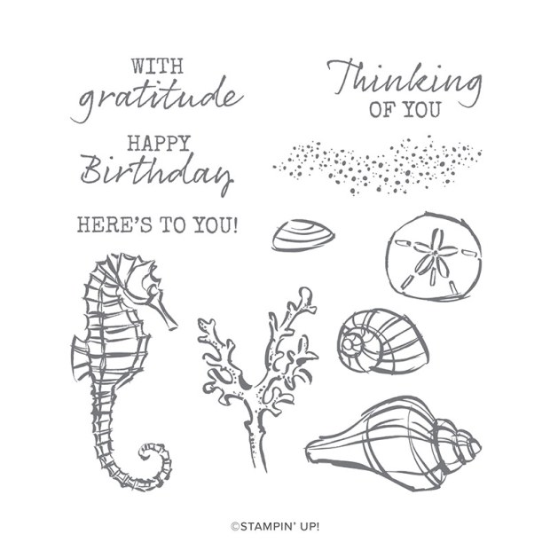 Stampin Up Seaside Notions Stamp Set Image