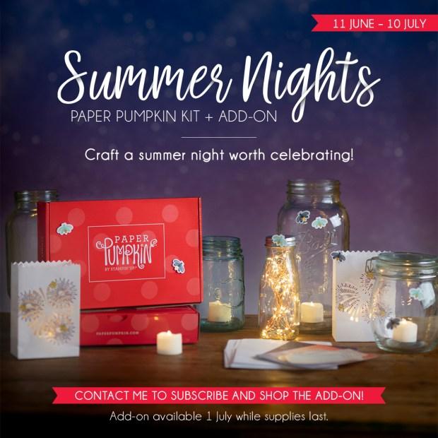July 2020 Paper Pumpkin Kit - Summer Nights