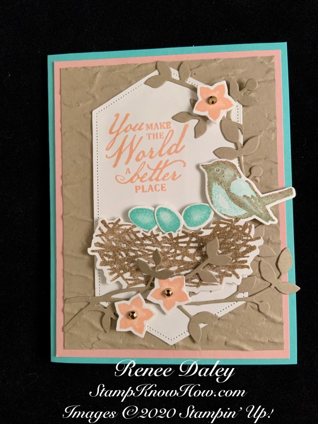 Stampin Up Birds and Branches Sample Card Image