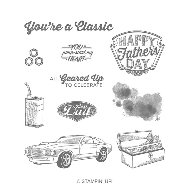 Geared Up Garage Stamp Set by Stampin Up