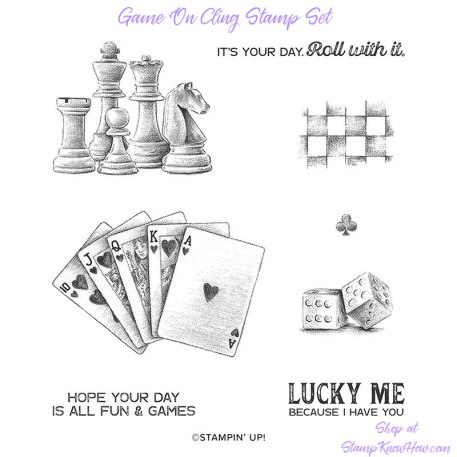 Game On Cling Stamp Set by Stampin' Up