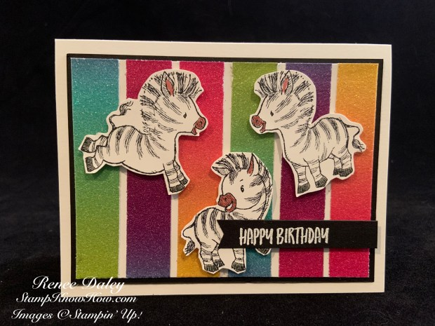 Image of Zany Zebras Birthday Card