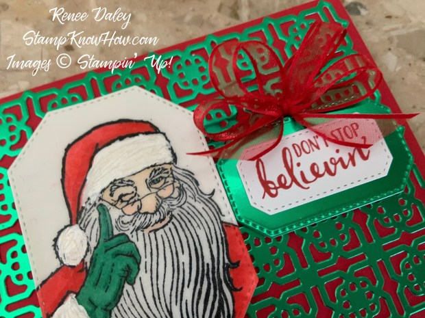 Don't Stop Believin' Christmas Card Close up Image