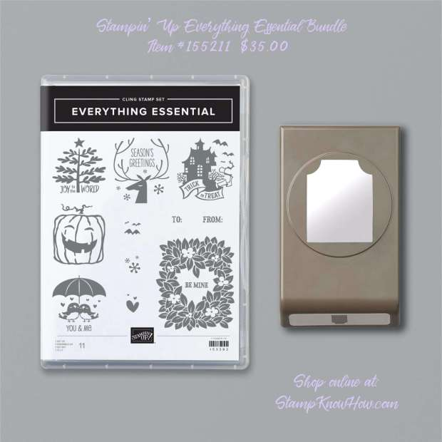 Stampin Up Everything Essential Bundle from 2020 Holiday Mini Catalog