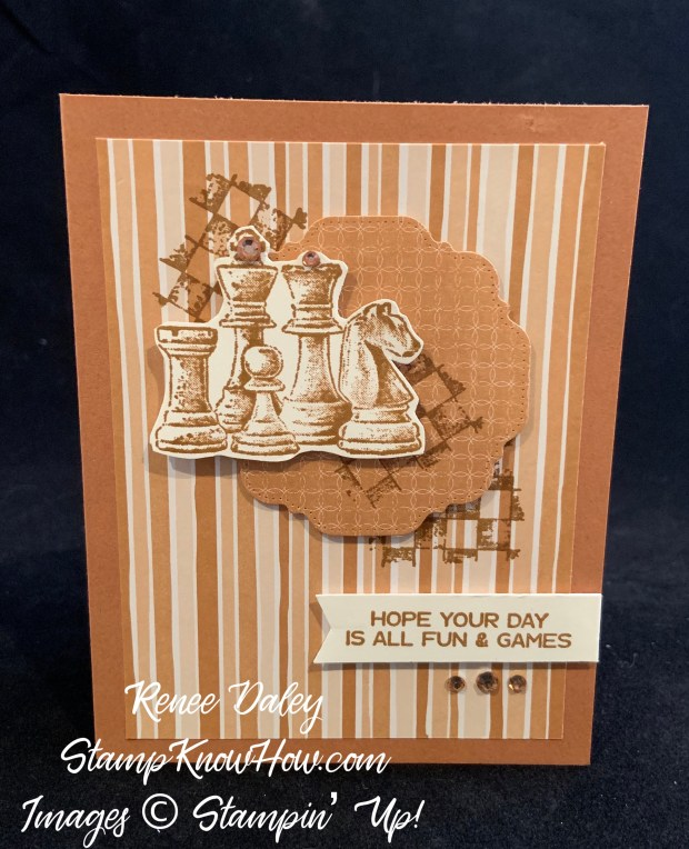 Stampin Up Game On Chess Pieces Birthday Card
