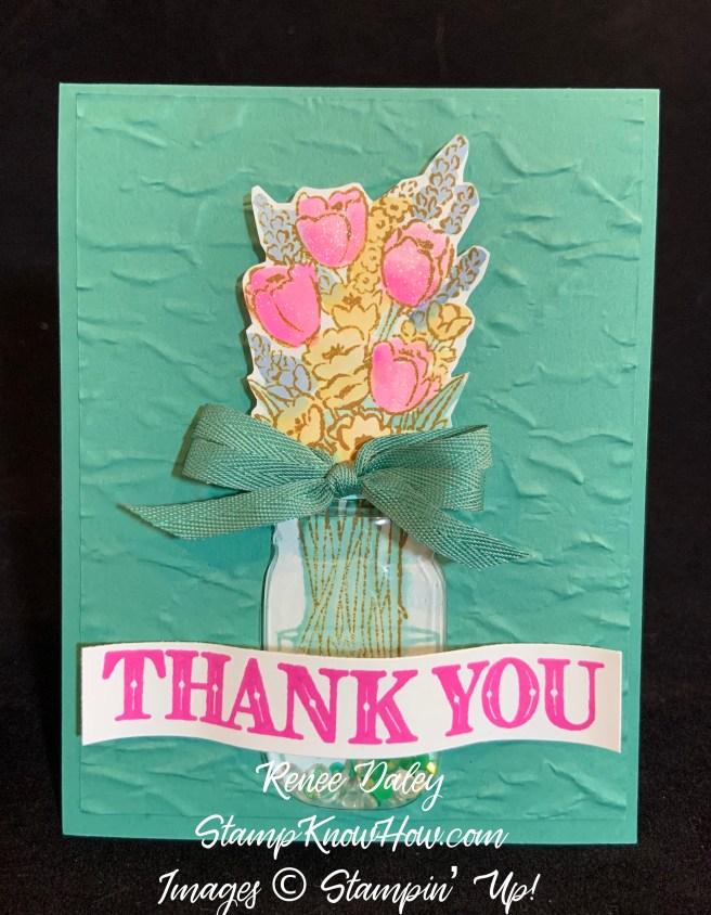 Jar of Flowers Customer Thank You Card