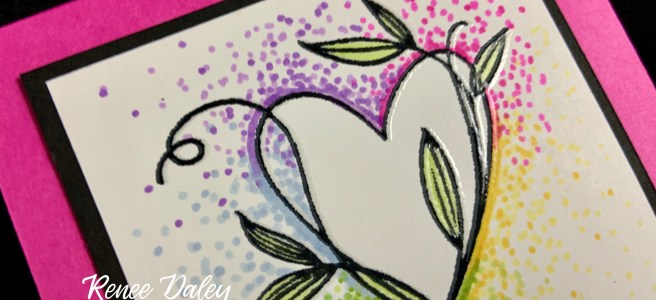 Touched My Heart Sympathy Card with the Dot Coloring Technique