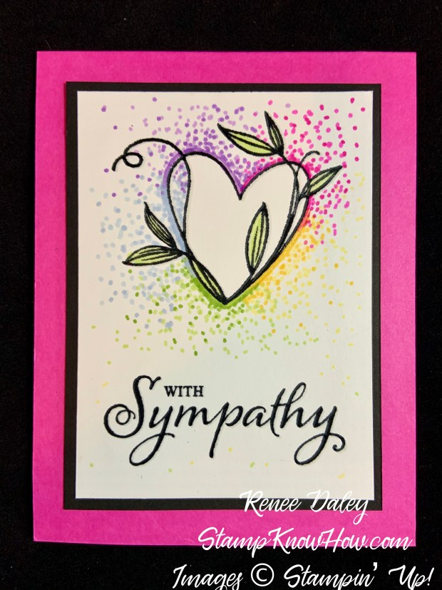 Touched My Heart Sympathy Card