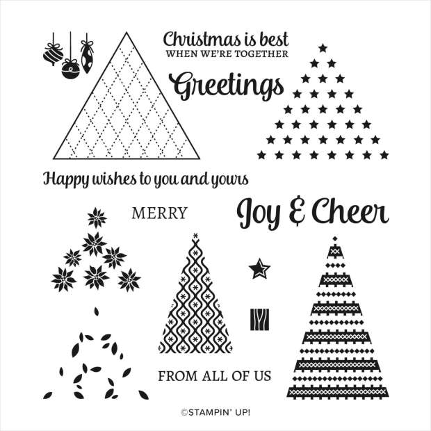 Stampin Up Tree Angle Photopolymer Stamp Set