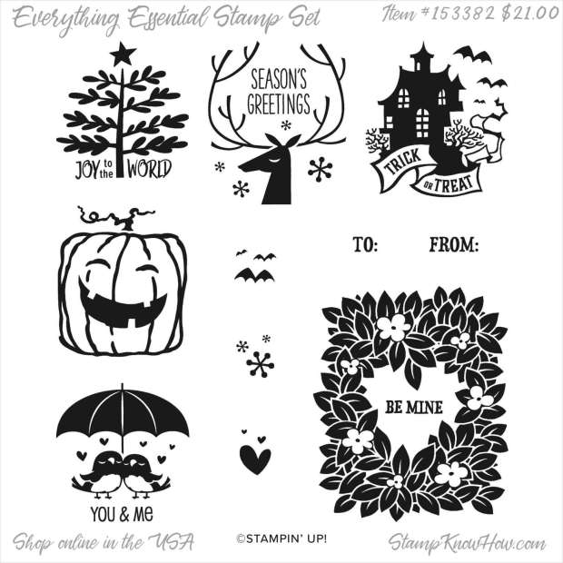 Stampin Up Everything Essential Stamp Set