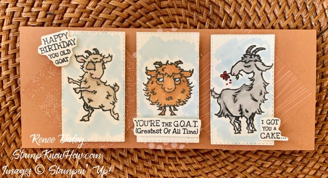 Stampin' Up Way To Goat Birthday Card Sample