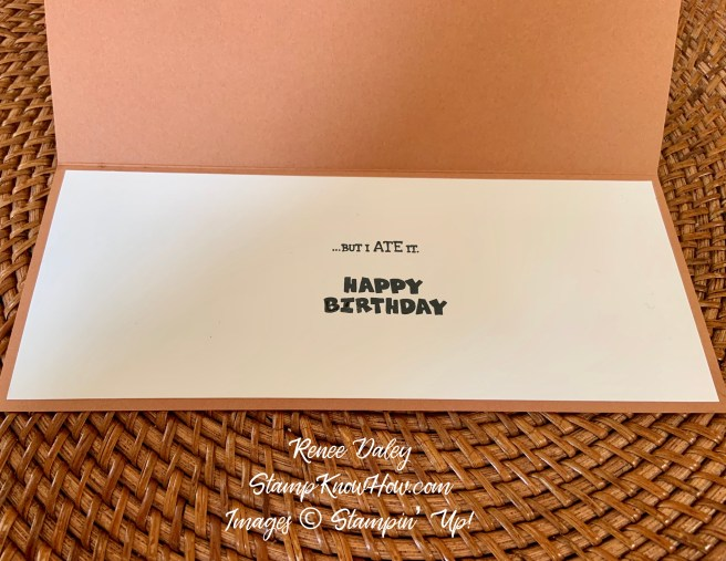 Inside view of the Way to Goat Birthday Card