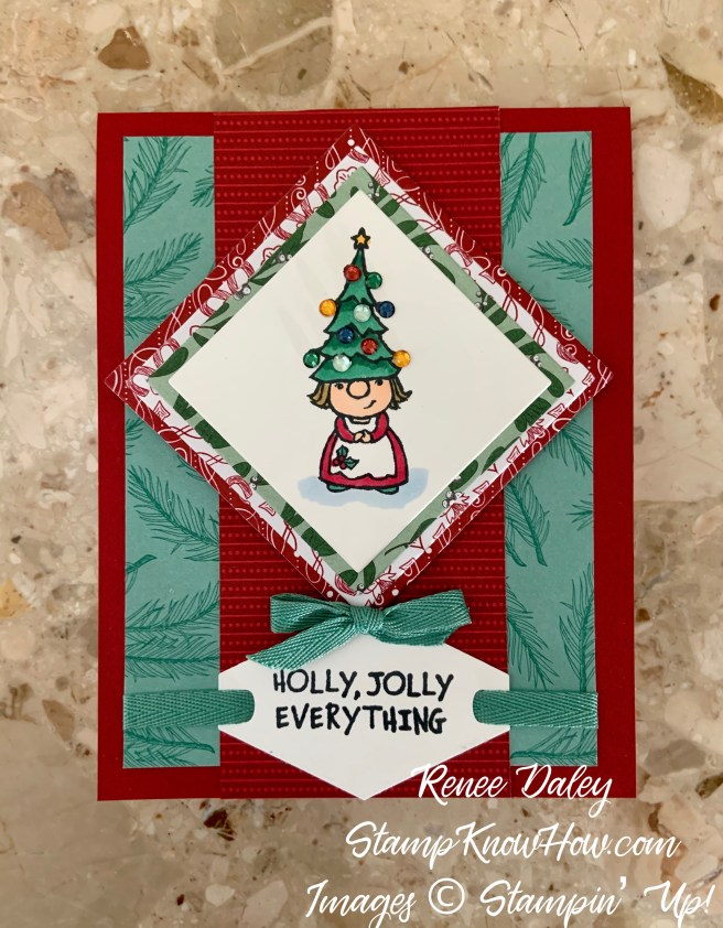 Stampin Up Gnome for the Holidays Christmas Card