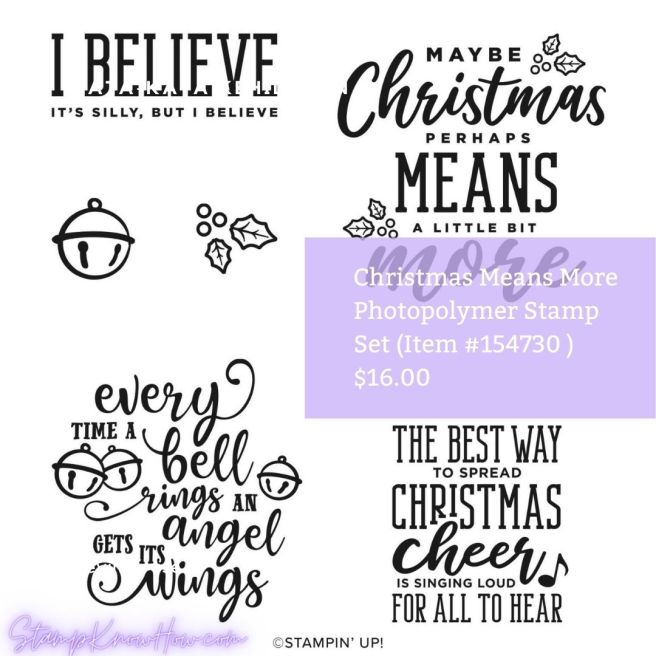 Stampin Up Christmas Means More Photopolymer stamp set