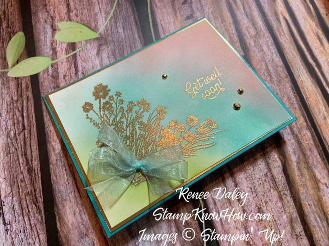 Corner Bouquet Card using the Sale-a-braiton stamp set from Stampin Up
