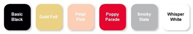 January 2021 Paper pumpkin kit color palette