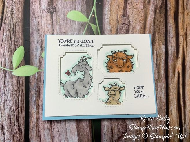 Way to Goat Peek a Boo Window Card