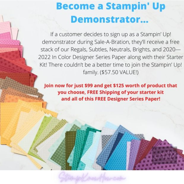Stampin' Up Sale-a-bration demonstrator promotion
