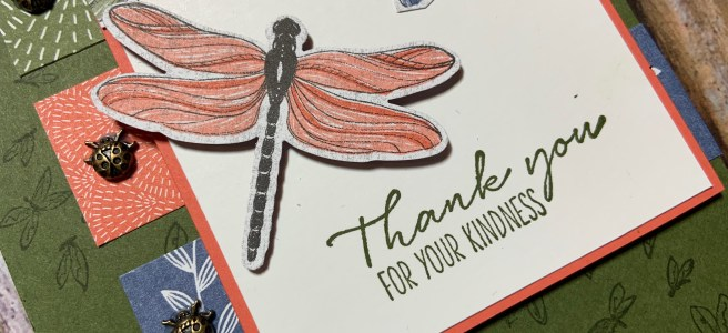 Dragonfly Garden Bundle Card close up image