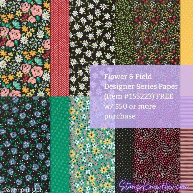 Flower & Field Designer Series Paper by Stampin' Up