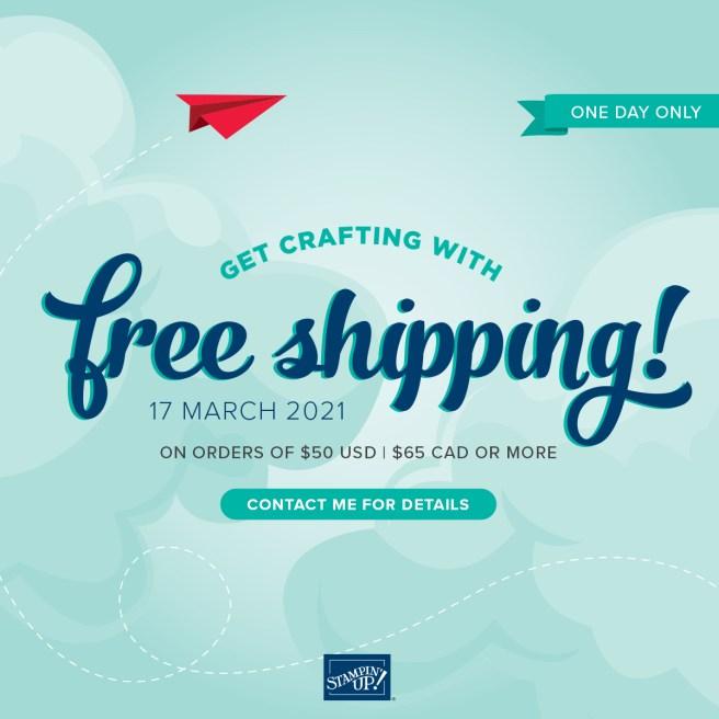Stampin' Up Free Shipping