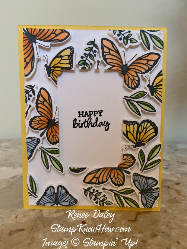 Floating Frame Birthday card image